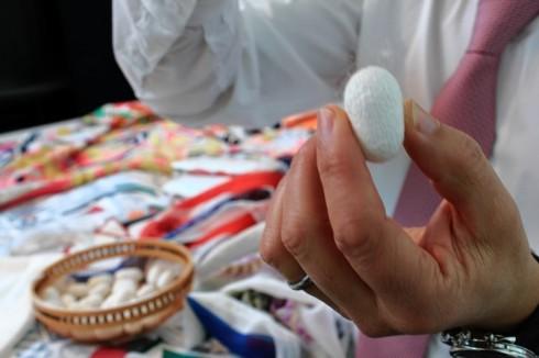 Các hoa văn tuyệt đẹp trên chiếc khăn lụa Hermès nghìn đô silk cocoon - hermes workshop in Lyon, France