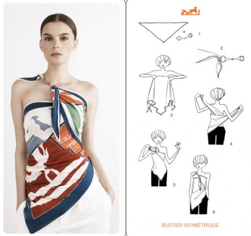 Một ví dụ sáng tạo độc đáo cùng khăn lụa Hermes