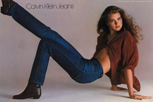 Calvin Klein và dục tính trong những bộ ảnh thời trang brooke-shields-calvin-klein-jeans-1980