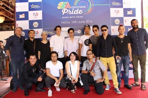 Các nghệ sĩ tham gia lễ hội âm nhạc Đông Nam Á - SEA Pride 2016