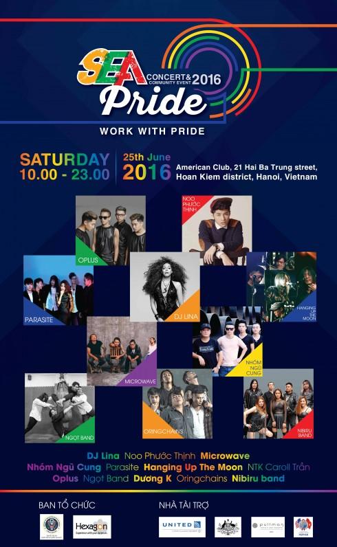 Lễ hội âm nhạc Sea  Pride 2016 là một trong chuỗi hoạt động để kỷ niệm 21 quan hệ Việt - Mỹ.