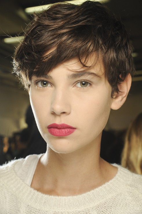 Backstage beauty, make up Women's fashion week, Paris, spring summer 2013