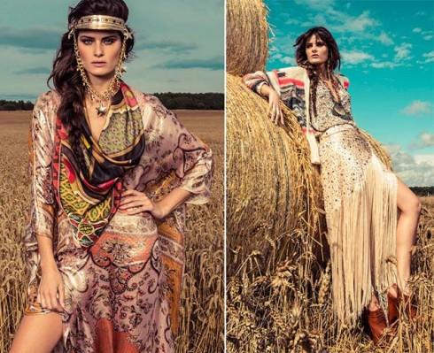 Ví dụ về phong cách thời trang boho chic
