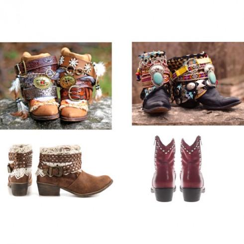 Phong cách thời trang boho chic qua giày bốt