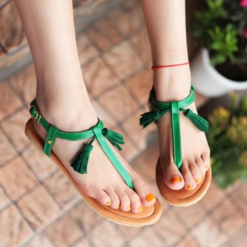 Fashion-2016-summer-women-shoes-T-strap-sandals-for-women-fringe-tassel-flat-sandal-girl-women