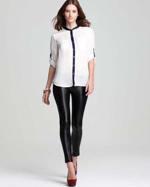 5 kiểu biến tấu độc đáo với áo sơ mi trắng kết hợp với legging