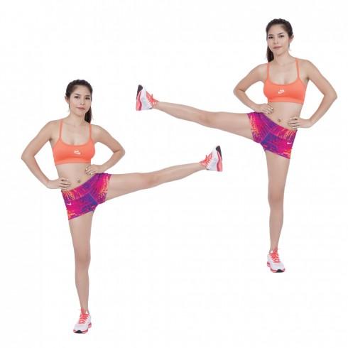 Bài tập thể dục Squat Hold Punches