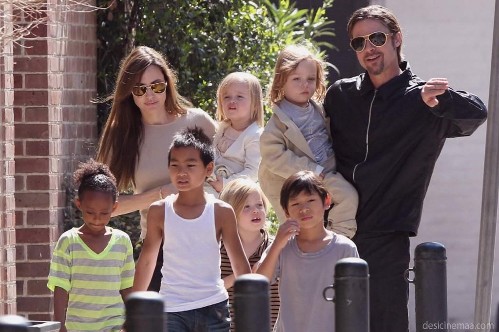 Ngôi sao Hollywood Angelina Jolie cùng gia đình