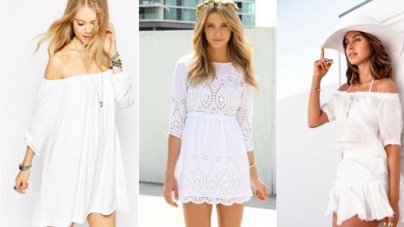 Biến đầm trắng thành phong cách thời trang của bạn