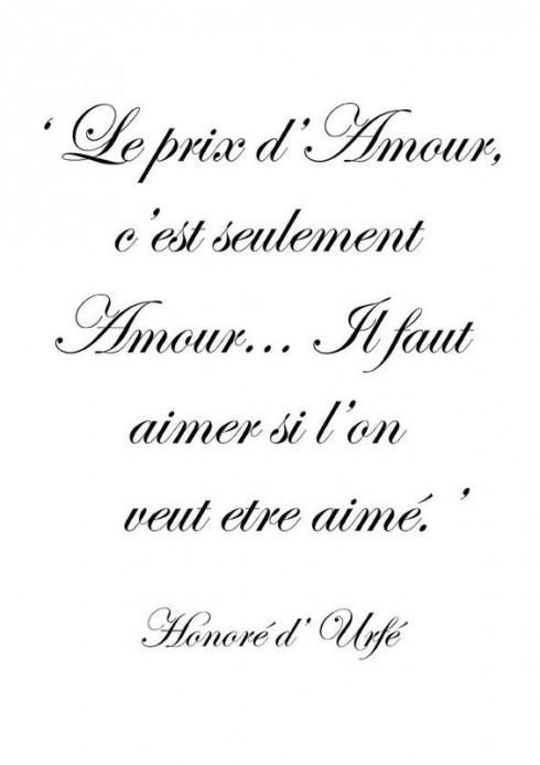 Danh ngôn tình yêu lãng mạn của Honoré d'Urfé