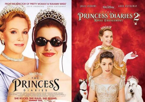 Poster phim Nhật Ký Công Chúa 1&2 (The Princess Diaries 1&2)