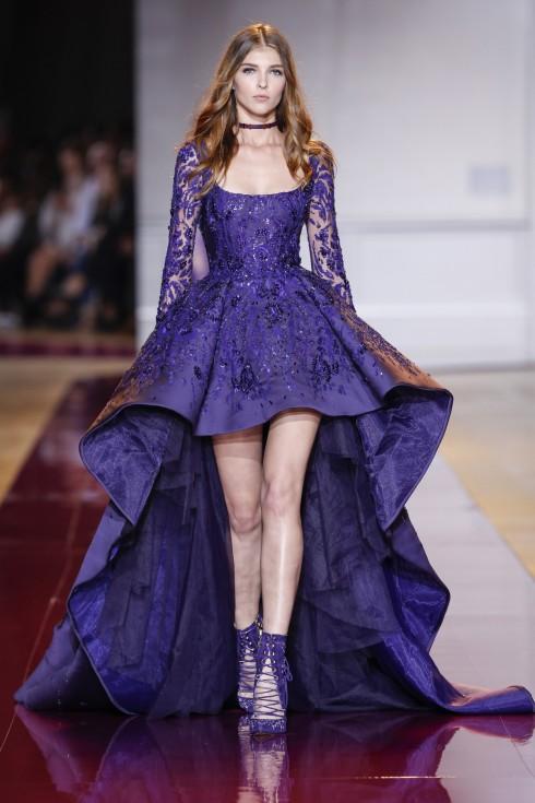 Những thiết kế váy hi-low với những đường frill bay bổng cũng được Zuhair ưu ái