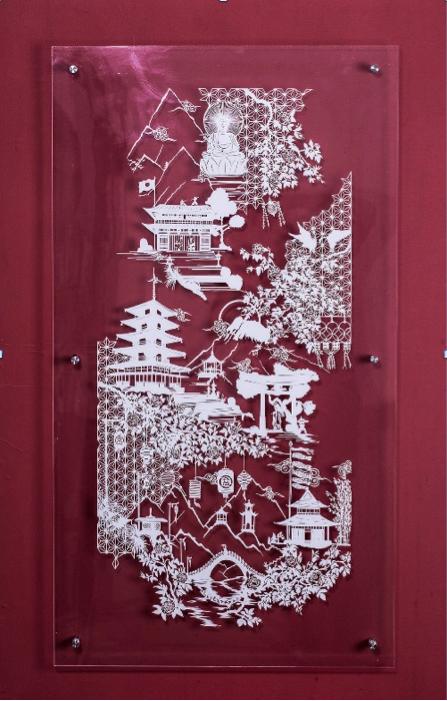 Giải nhất tuần 5 - Nguyễn Tiến Hưng với thể loại cắt giấy Kirigami - Vườn Hồng Takashimaya, hương sắc và những cung bậc.