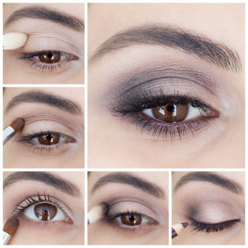 Trang điểm mắt khói đẹp với tông nâu