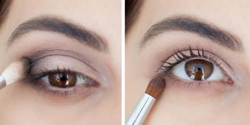 Trang điểm mắt khói đẹp với tông nâu bước 3