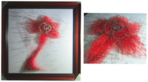 """""""Vượt"""" mô tả sinh động sự chuyển động của hoa hồng Takashimaya trong không gian"""
