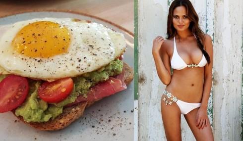 Chrissy Teigen và bữa ăn sáng
