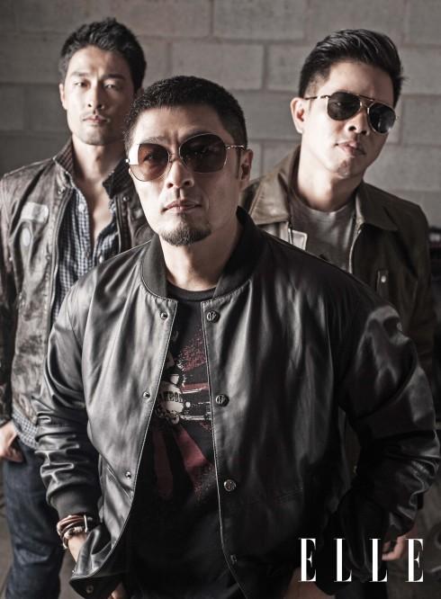 Johnny: Trang phục Diesel - Thái Hòa: Áo da Diesel, Áo thun Versace, Kính Aldo - Charlie: Áo da Versace Jeans, Phụ kiện Aldo