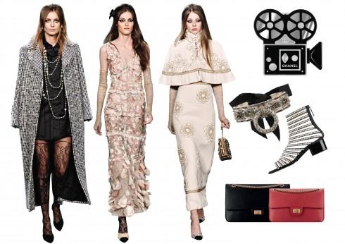 Những biểu tượng quen thuộc của Chanel, chiếc túi 2.55 hay đôi giày two-toned được làm mới bằng chất liệu da mềm và đính thêm thật nhiều hạt ngọc trai.