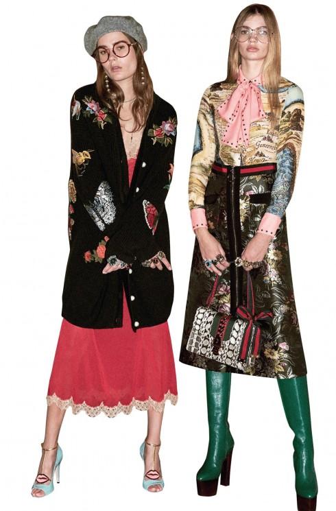 Gucci - Bộ sưu tập khu vườn thần tiên với họa tiết thiên nhiên, cây cỏ được thêu lên những chiếc váy, áo khoác cardigan