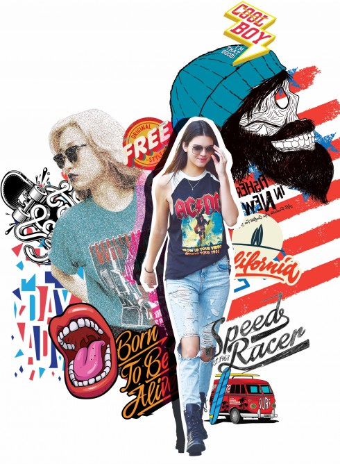 áo thun thời trang street style graphic tee 1