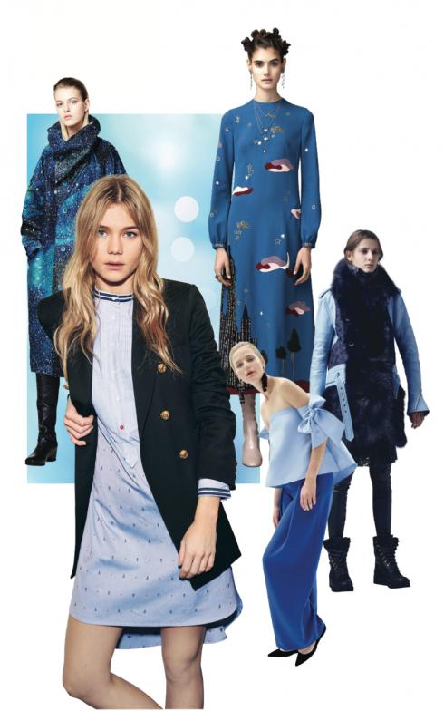 Xu hướng thời trang thu đông 2016: Xanh dương ấm áp