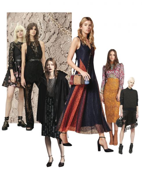 Xu hướng thời trang thu đông 2016: Ren kiêu sa