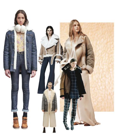 Xu hướng thời trang thu đông 2016: Lông cừu mềm mại