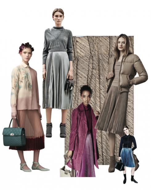 Xu hướng thời trang thu đông 2016: Váy xếp ly thời thượng
