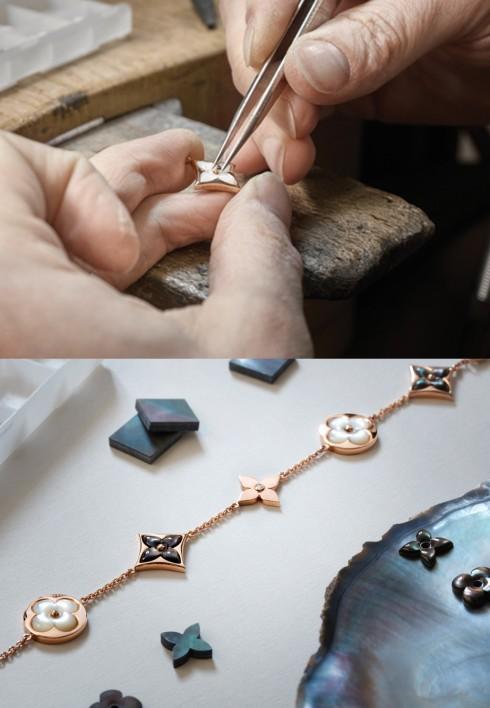 Quy trình làm nên những mẫu nữ trang thuộc BST Louis Vuitton Bloom.