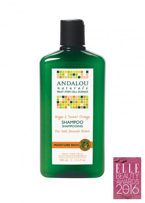 <strong>7. ANDALOU ARGAN & SWEET ORANGE SHAMPOO</strong><br/>Dầu gội dành cho tóc đã qua sử dụng hóa chất, chứa thành phần dầu Argan, Amino Acid Complex, dầu cam ngọt, Milk Thistle Extract giúp làm sạch, sửa chữa, khôi phục độ đàn hồi, độ ẩm cho tóc, giải độc da đầu và chân tóc, thúc đẩy tóc phát triển khỏe mạnh, xử lý tóc khô và xoăn cứng.