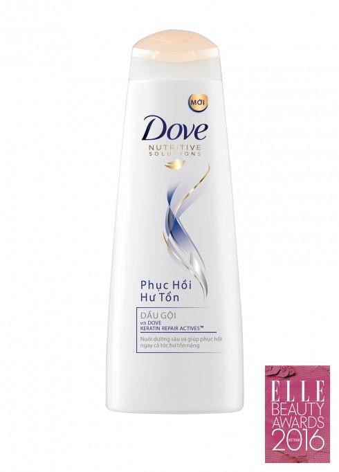 <strong>8. DOVE NUTRITIVE SOLUTIONS PHỤC HỒI TÓC HƯ TỔN</strong><br/>Mái tóc chắc khỏe và đẹp cần sự chăm sóc thực sự tối ưu, giúp tóc ngày càng được cải thiện sau mỗi lần dùng. Đó là lý do Dove sáng tạo ra các sản phẩm trong dòng Dove Nutritive Solutions Phục hồi hư tổn mới với Keratin Repairs Actives, vừa giúp mang đến kết quả tức thời, đồng thời nuôi dưỡng tóc lâu dài, ngăn ngừa hư tổn cho mái tóc ngày một chắc khỏe.