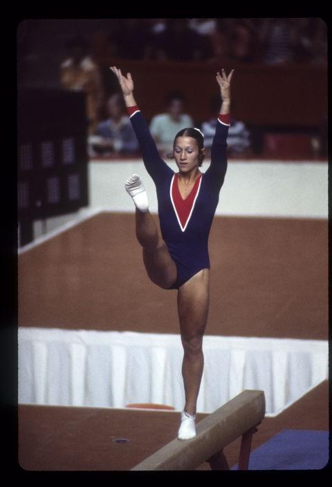 VĐV thể thao Mỹ Debra Wilcox trong thế vận hội tại Montreal, 1976.