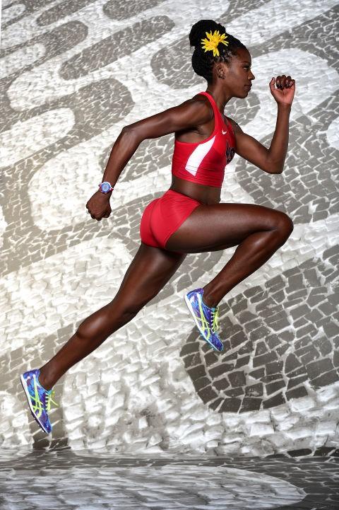 Hình ảnh ấn tượng của nữ vận động viên Alysia Montano tại thế vận hội Olympics 2016 được tổ chức tại Rio de Janeiro.