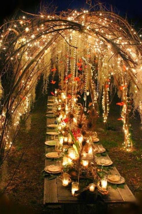 Tổ chức tiệc cưới theo phong cách bohemian - trang trí bữa tiệc