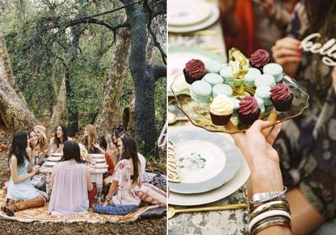 Tổ chức tiệc cưới theo phong cách bohemian - món ăn