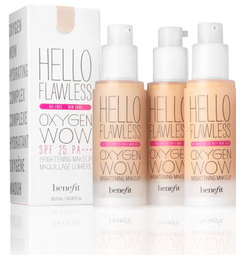 Dòng kem nền Hello Flawless Oxygen Wow! của Benefit