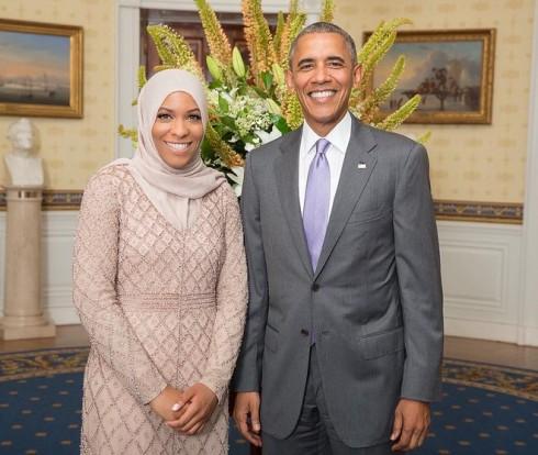 5 nữ vận động viên 'fashionista' tại Olympic 2016 - Ibtihaj Muhammad và tổng thống Mỹ Obama