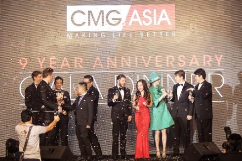 Đại tiệc kỷ niệm 9 năm của Tập đoàn CMG.ASIA - Đại tiệc của người nổi tiếng - lãnh đạo cmg.asia