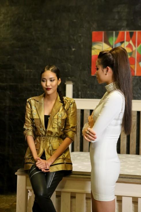Căng thẳng lên cao giữa Lan Khuê và Phạm Hương ở tập 10 The Face