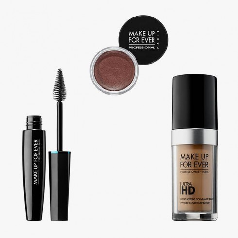 1. Make Up For Ever Aqua Smoky Extravagant Waterproof Mascara 2. Make Up For Ever Aqua Cream 3. Make Up For Ever Ultra HD Invisible Cover Foundation