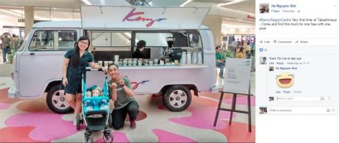 Xe Cafe Kenzo xuất hiện đầy ấn tượng tại Saigon Centre
