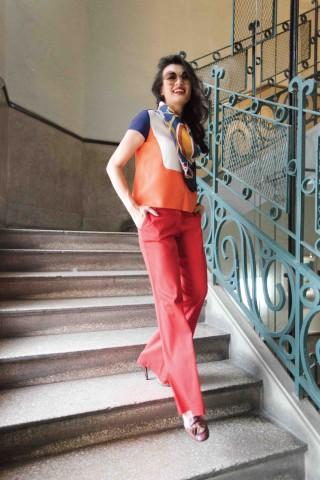 Bản màu đa sắc trong phong cách thời trang của cô nàng Diệu Thu