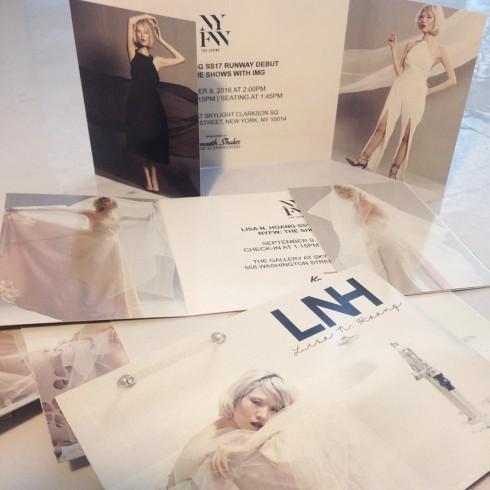 Thiệp mời tới dự show diễn của Lisa N.Hoang tại Tuần lễ thời trang New York