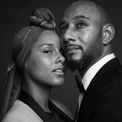 Alicia Keys và Swizz Beats. Alicia tôn vinh vẻ đẹp tự nhiên cùng mặt mộc.