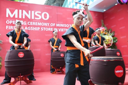 Cửa hàng đầu tiên của Miniso được khai trương tại số 53 Thái Hà, Hà Nội.