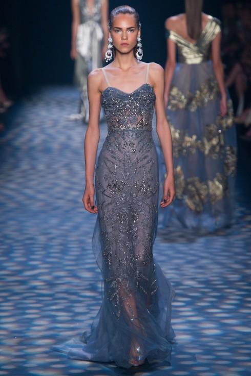 BST khép lại với những thiết kế váy xanh huyền ảo