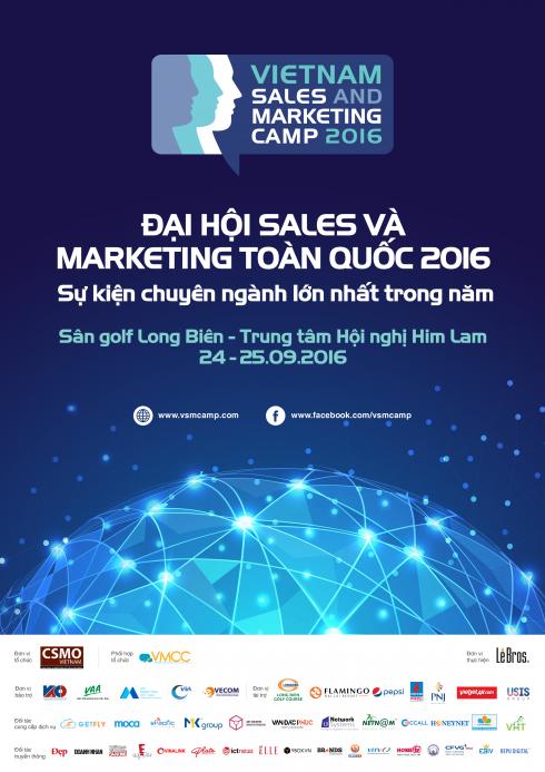 Vietnam Sales & Marketing Camp (VSMCamp 2016) là sự kiện chuyên ngành sales, marketing, quảng cáo và truyền thông lớn nhất từ trước đến nay.