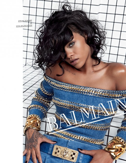 Ca sĩ Rihanna là gương mặt đại diện cho Balmain.