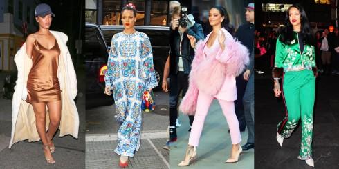 Mỗi lần bước ra đường là một lần người ta chú ý đến ca sĩ Rihanna.
